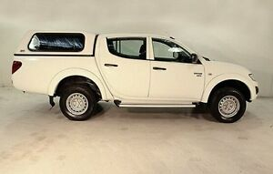 2012 Mitsubishi Triton MN MY12 GLX Double Cab White 4 Speed Automatic Utility Wayville Unley Area Preview