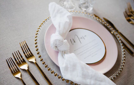 HIRE: Stunning Gold Charger Plates