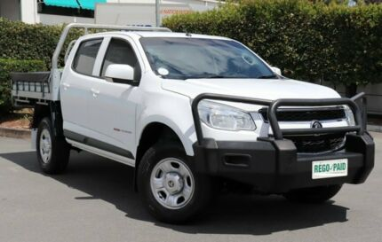 2016 Holden Colorado RG MY16 LS Crew Cab White 6 Speed Manual Cab Chassis Acacia Ridge Brisbane South West Preview