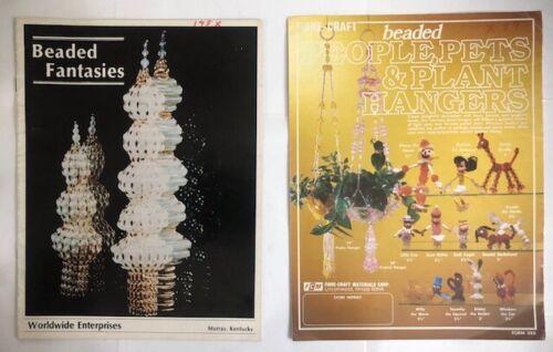 Lot 2 Vintage Bead Beading Books Beaded Fantasies I  Worldwide Enterprises +