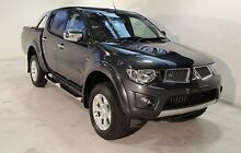 2013 Mitsubishi Triton MN MY13 GLX-R Double Cab Grey 5 Speed Sports Automatic Utility Wayville Unley Area Preview