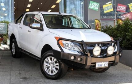 2014 Mazda BT-50 UP0YF1 XTR White 6 Speed Sports Automatic Utility Myaree Melville Area Preview