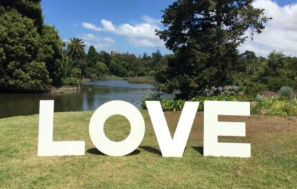 LOVE letters for Hire and Wedding Ceremony Set Up Carnegie Glen Eira Area Preview