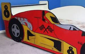RED RACING CAR BED FOR BOYS - KIDS SINGLE SIZE Guyra Guyra Area Preview