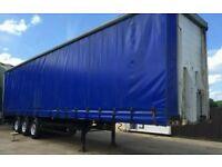 Curtain side hgv trailer