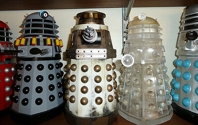 Models representing designs from Destiny of the Daleks, Remembrance of the Daleks and Revelation of the Daleks