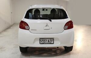 2013 Mitsubishi Mirage LA MY14 LS White 1 Speed Constant Variable Hatchback Wayville Unley Area Preview