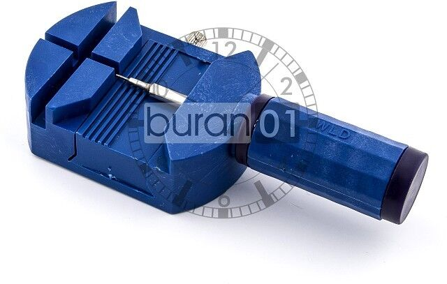 Uhrenarmbänder- Stift- Entferner für Metallbänder - Blau- buran01-uhrenhandel