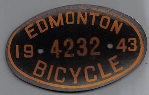 Looking for Edmonton Bicycle License plates and plate toppers