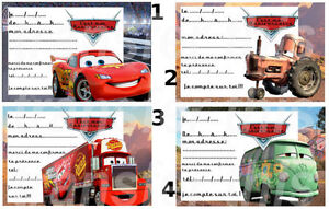 carte invitation anniversaire cars pixar