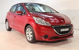 2012 Peugeot 208 A9 Active Red 4 Speed Automatic Hatchback Wayville Unley Area Preview