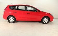 2009 Hyundai i30 CW Red 4 Speed Automatic Wagon Biggera Waters Gold Coast City Preview