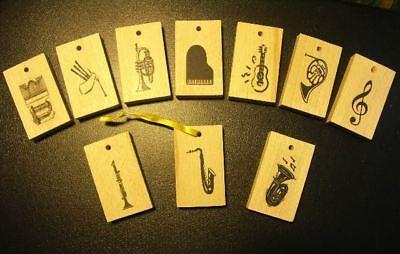 Musiker Dekoration Deko aus Holz Instrumente Geschenk