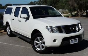 2013 Nissan Navara D40 S6 MY12 ST White 6 Speed Manual Utility Glendalough Stirling Area Preview