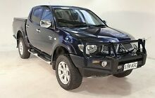 2010 Mitsubishi Triton MN MY11 GLX-R Double Cab Blue 5 Speed Manual Utility Wayville Unley Area Preview