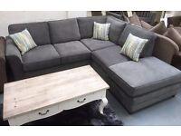 Brand new ex display corner sofa, £799