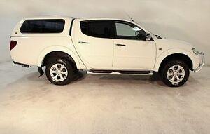 2013 Mitsubishi Triton MN MY13 GLX-R Double Cab White 5 Speed Manual Utility Wayville Unley Area Preview