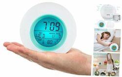 Kids Alarm Clock Digital for Student Boys Girls 7 Colors Changing Light Bedside