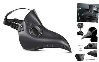 Plague Bird Beak Doctor Mask,Long Nose Bird Beak Black Plaque Mask Steampunk Co