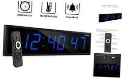 Ivation Huge 36 Inch Large Big Oversized Digital LED Clock with Stopwatch, Alar