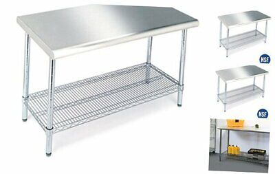 Seville Classics Commercial-grade Nsf Top Work Table 49 W X 24 D X 35.5 H