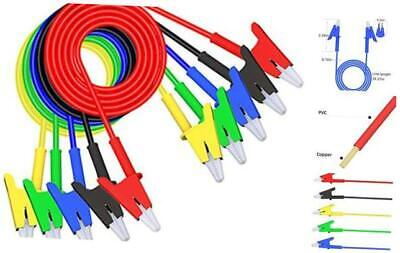 Alligator Clips Test Leads Dual Ended Crocodile Wire Cable With 5pcs