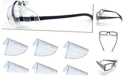 Safety Eye Glasses Side Shields, Slip On Clear Side Shield for Safety Glasses-