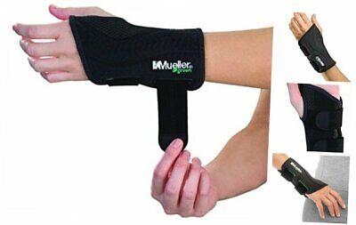 Mueller Green Fitted Wrist Brace, Black, Left Hand, Large/X-