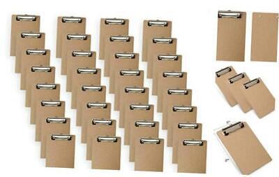 Mini Clipboard 5.5 X 8.2 Inches Small Hardboard Clipboard Pack Of 32