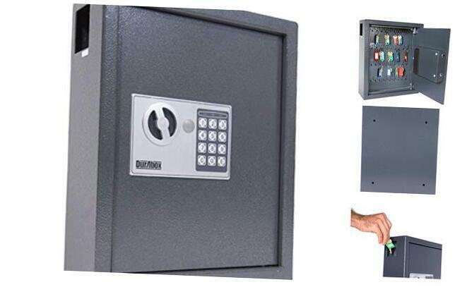 40 Keys Steel Safe Cabinet with Digital Lock - Electronic Key Safe with Drop Sl