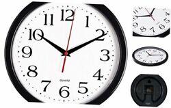 Black Wall Clock Silent Non Ticking - 10 Inch Quality Quartz 10 Inch Black 1