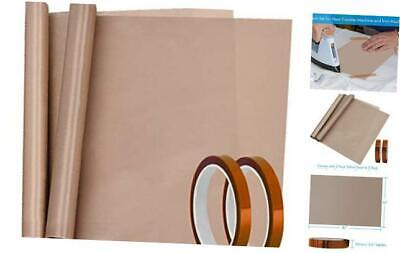 4 Pack Heat Tape High Temp Tape And Teflon Sheet For Vinyl Heat Press