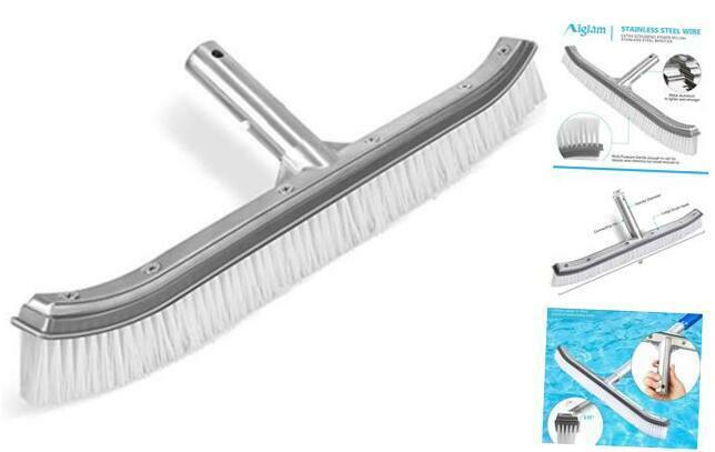 "Pool Brush,  Swimming Pool Brush Head Premium 18"" Aluminium Pool Brush for Gray"