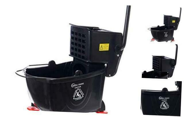 Simpli-Magic 79200 Mop Bucket with Wringer, Black