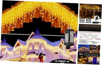 LED Icicle Lights Outdoor,400LED 32ft 8 Modes Christmas Lights with 75 Drops, P