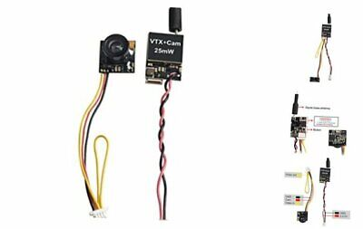 Wolfwhoop Q2 5.8GHz 25mW 40CH FPV Transmitter and Micro Camera with OSD