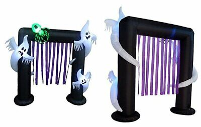 BZB Goods 8 Foot Halloween Inflatable Ghosts Spider Archway Arch LED Lights Deco
