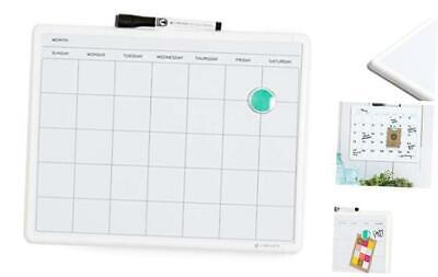 Contempo Magnetic Monthly Calendar Dry Erase Board 11 X 14 Inches White