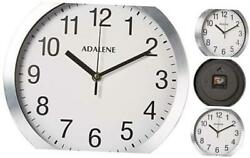 Modern Metal Wall Clock Silent - 10 Inch Analog Wall Clocks Battery Operated