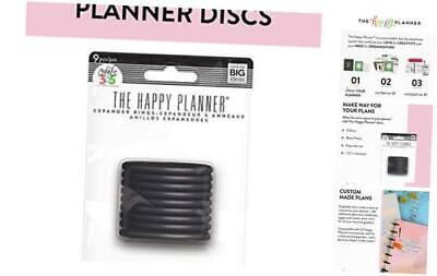 Me & My Big Ideas Plastic Expander Discs, Black - The Happy Planner