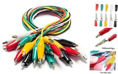 10pcs Electrical Alligator Clips With Wires Test Leads Sets Soldered And Stampi