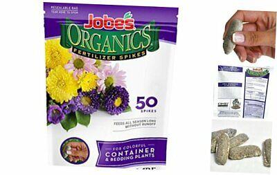 Jobe's Organics Container & Bedding Plant Fertilizer 50 Spikes Container Plants
