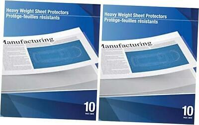 Heavyweight Top Load Ledger Sheet Protector 11 X 17 Clear Pack Of 10