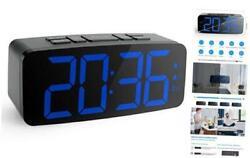 "Digital Alarm Clock Radio: 6.2"" Large LED Display with 4 Brightness Dimmer"