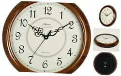 14-Inch Large Wood Wall Clock Retro Vintage Style Decorative Clocks Battery Ope