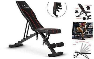 FLYBIRD Adjustable Weight Bench Full Body Workout Foldable Incline Decline