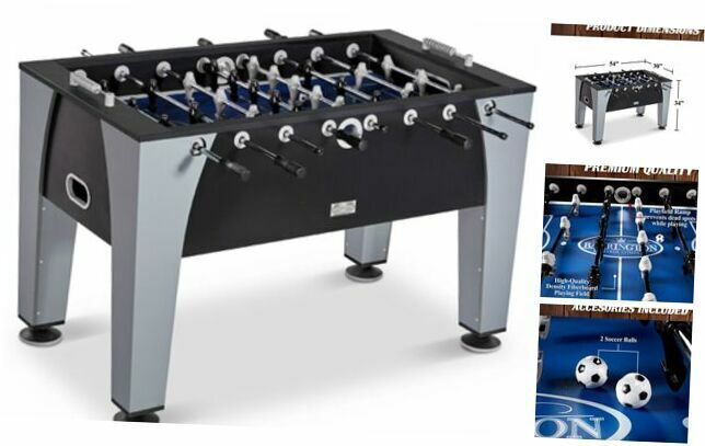 """54"""" Arcade Foosball Soccer Table, Accessories Included, Black/Gray"""
