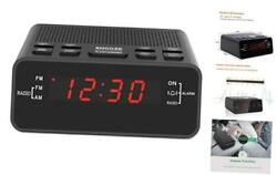"Digital Alarm Clock Radio, Small Alarm Clocks for Bedrooms - AM/FM Radio, 0.6"" L"