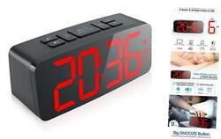 Digital Alarm Clock, 6.3 Large LED Display Digital Alarm Clock with Big RED