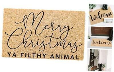 Printed Coir Doormat - Holiday (Merry Christmas Ya Filthy Animal)